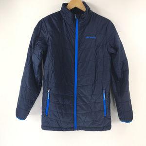Columbia L 14-16 Omni Heat Blue Puffer Coat Jacket
